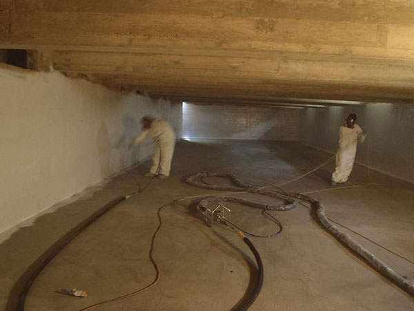 concrete strengthening and protection with frp tank linings