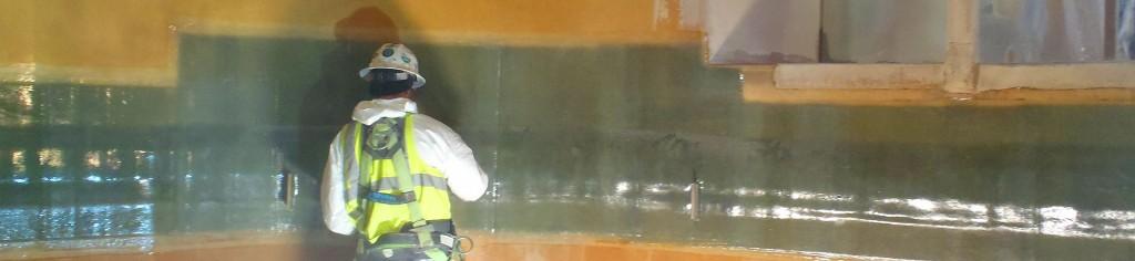 water tank repair, tank linings, sandblasting bay area
