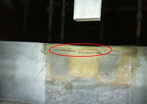 Leak Path Found in FRP Joint